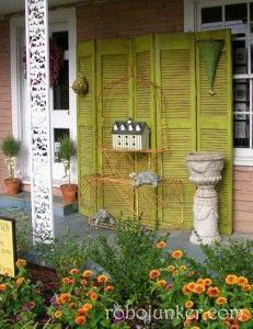 IDEAS TO REPURPOSE OLD SHUTTER DOORS