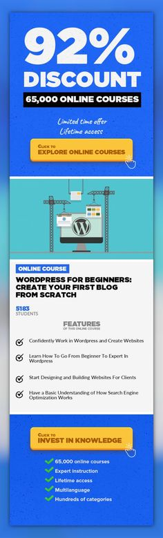 Wordpress For Beginners: Create Your First Blog From Scratch Web Development, Development #onlinecourses #learningstrategies #onlineclassesorganizationPerfect for Beginners Who Know Nothing About Building Websites This course is part of Learn How To Become a Front-End Web Developer From Scratch. If you would like to get all my Udemy courses in one, check it out that course. Last Updated: April 2...