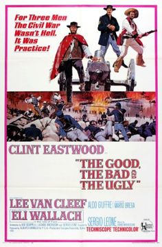 The Good, the Bad and the Ugly, Sergio Leone's 1966 Spaghetti Western film staring Clint Eastwood, Lee Van Cleef and Eli Wallach in the titular roles. Western Film, Western Movies, Western Cowboy, Clint Eastwood, Eastwood Movies, Old Movies, Vintage Movies, Great Movies, Awesome Movies