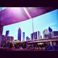 #downtown #atlanta #skyline #highway #city
