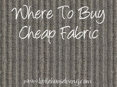 Sewing Fabric Love to sew and craft but dislike the prices? Here are some great places to find cheap fabric! - Where to look for cheap fabric that won't break the bank for all of your crafting and sewing needs. Fabric Yarn, Buy Fabric, Fabric Crafts, Sewing Crafts, Sewing Projects, Cardboard Crafts, Crafty Projects, Paper Crafts, Sewing Hacks