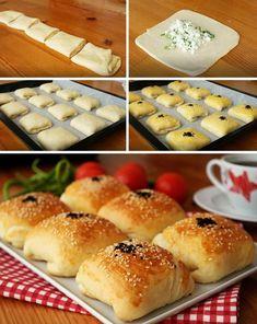 Kat Kat Kare Poğaça (videolu) Tarifi nasıl yapılır? 12.664 kişinin defterindeki bu tarifin resimli anlatımı ve deneyenlerin fotoğrafları burada. Yazar: Suzan Sungur #katkatkarepoğaça #poğaçatarifleri #nefisyemektarifleri #yemektarifleri #tarifsunum #lezzetlitarifler #lezzet #sunum #sunumönemlidir #tarif #yemek #food #yummy Arabic Food, Turkish Recipes, Creative Food, Fun Desserts, My Favorite Food, Snacks, Food Videos, Baking Recipes, Vegetarian Recipes
