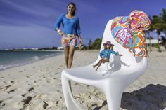 The 290 modo chair from the #modonation collection. designed by Steen Ostergaard, mini me, outdoor furniture, #barbie, #trinaturk, caribbbean life, beach and blue sky, #modernism
