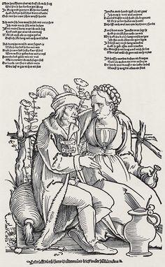 Beham, Hans Sebald: Liebeswerbung c.16th