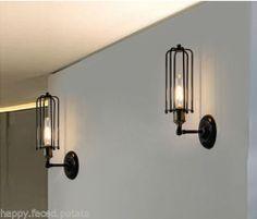 Rustic Industrial Wall Light Sconce Vintage Edison Pencil Tube Filament Bulb Inc   eBay