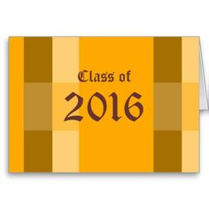 Class of 2016 Graduation Note Card by Janz