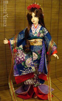 Kimono Study: Kaou by Jenovan.deviantart.com on @deviantART