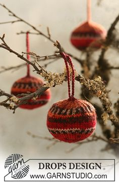 "DROPS Extra 0-515 - Gestrickte DROPS Weihnachtskugel in ""Fabel"". - Free pattern by DROPS Design"
