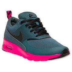 Meet the Women's Nike Air Max Thea Running Shoes. She is lighter than ever, durable as ever, and as comfortable as ever. She is everything you could want in a running shoe.   Her upper is constructed using minimal textiles, and she has synthetic