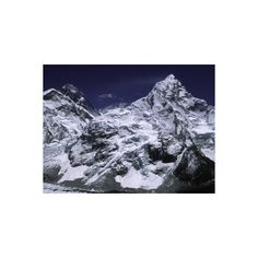 Mount Everest and Ama Dablam, Nepal Photographic Wall Art Print (52 CAD) ❤ liked on Polyvore featuring home, home decor, wall art, landscapes, mountain ranges, mountains, natural landscapes, subjects, mounted wall art and landscape posters