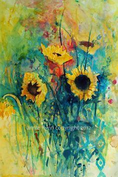 Sunflowers in the Garden. Annie Flynn