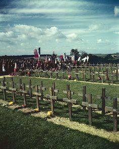 View of Dieppe Cemetery, Dieppe, France. #vintage #WW2 #Remembrance_Day