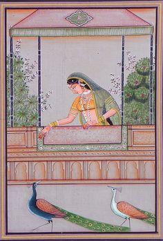 Ragini Madhu Madhavi - Miniature Painting from rajasthan
