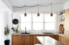 The lighting on this kitchen are adorable, very playful.  For more practical insights follow my boards. Visit my website: www.dmm-studio.com