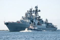 The Russian Navy Udaloy-class destroyer RFS Admiral Panteleyev arrives at Joint Base Pearl Harbor-Hickam to participate in the Rim of the Pacific exercise 2012. by Official U.S. Navy Imagery