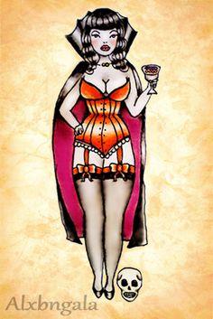Inspiration for my Halloween side-piece -- Halloween Tattoo Flash by:Alxbngala by Alejandra L Manriquez, via Behance