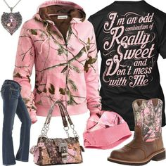 e60c03bd7799 I m An Odd Combination Pink Heart Jewelry Outfit - Real Country Ladies