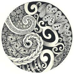 Spirals plus Tangles: Black Pearlz, Cruffle, Firecracker, Fohbraid, Lamar, Puffle, Sindoo, Tipple
