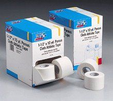 1-1/2 in. x10 yd. Porous cloth athletic tape roll- 16 per dispenser bo – SK Tack & Supply