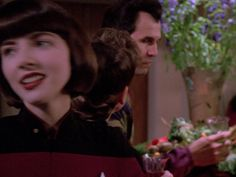 """Christie Haydon in a Blu-ray screencap from the TNG episode """" The Next Phase""""."""