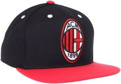 f8b0253bfd3 AC Milan Soccer Snapback Adjustable Cap