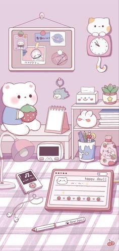 Cute Panda Wallpaper, Cute Pastel Wallpaper, Soft Wallpaper, Anime Scenery Wallpaper, Cute Patterns Wallpaper, Bear Wallpaper, Kawaii Wallpaper, Wallpapers Kawaii, Panda Wallpapers