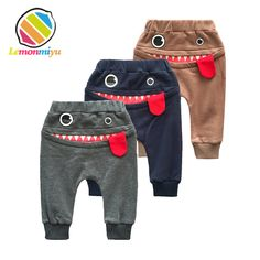 Quality Lemonmiyu Cartoon Baby Full Length Pants Cotton Toddler Spring Harem Pants Newborn Casual Trousers Loose Infants Elastic Pants with free worldwide shipping on AliExpress Mobile Baby Boy Fashion, Kids Fashion, Fashion Clothes, Fashion Bags, Womens Fashion, Fashion Outfits, Fashion Trends, Fashion Delivery, Baby Boy Outfits