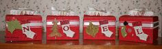 Kraft boxes from Stampin' Up! made into a decoration for Christmas