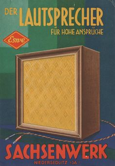 """""""Eswe"""", speakers for high claims. Advertising poster, c1940"""