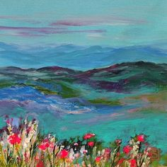 Sea Dean - Paint a Masterpiece: WILDFLOWER MOUNTAIN - DAY THREE - 30 Paintings in ...