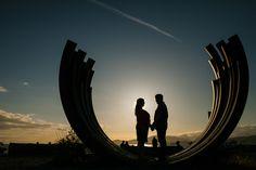 sunset engagement, English Bay, Vancouver