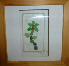 sea glass flower picture