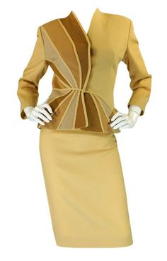 Suit; Lilli Ann, 1940s; omgthatdress; Found on www.1stdibs.com via Tumblr