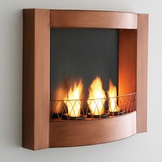 WALL MOUNTED INDOOR/OUTDOOR FIREPLACE