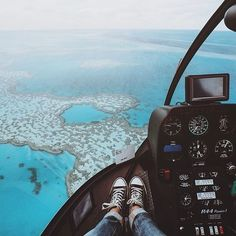 Front seat views from the Heli over the Great Barrier Reef. Have a great weekend guys ✌🏼️ Life Is An Adventure, Adventure Travel, Luxury Helicopter, Luxury Lifestyle Women, Wealthy Lifestyle, Dream Images, View Wallpaper, Great Barrier Reef, Cloud
