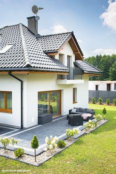 Dom w sansewieriach Country House Plans, Design Case, Home Fashion, Exterior, House Design, Patio, House Styles, Building, Home Decor