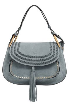 Chloé 'Hudson' Studded Suede Shoulder Bag available at #Nordstrom