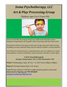Soma Psychotherapy Art & Play Processing Group for Children | Summit County, Colorado