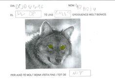 ELS NENS I NENES DE LA CLASSE DELS LLOPS HEM FET UN PROJECTE SOBRE LA VIDA D'AQUESTS ANIMALS