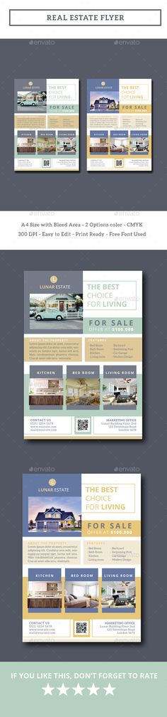 Real Estate Flyer by iamwulano Real Estate Flyer is so suitable for promotion your property business. All you need to do is just edit text, insert image with sma