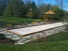 Bocce Ball Court for the backyard.