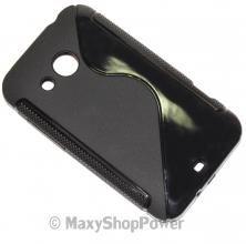 SSYL CUSTODIA IN SILICONE S-LINE COVER CASE HTC DESIRE 200 NERA BLACK NEW NUOVA IDEA REGALO - SU WWW.MAXYSHOPPOWER.COM