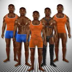 Set of 3 Anatomically Correct Male Paper Dolls Articulated Muscle Studs