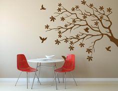 Wall Decal Sticker Bedroom tree branch leaves birds beautiful kitchen decor 305b