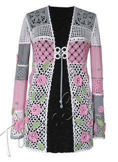 Outstanding Crochet: Beautiful Crochet Cardigan from Svetlana Tomina.