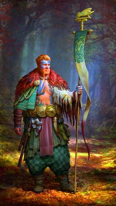 Celts standard bearer- by Roman Zawadzki