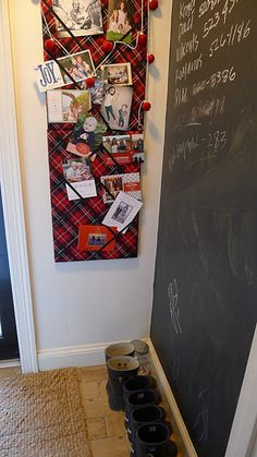 Red plaid christmas card holder --but I'd love to have this year round!  (no instructions, just a photo)