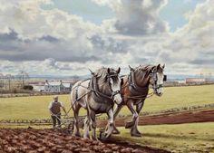 Work Horses, Cute Horses, Animal Paintings, Horse Paintings, Pastel Paintings, Barn Pictures, Horse Anatomy, Horse Posters, Watercolor Horse
