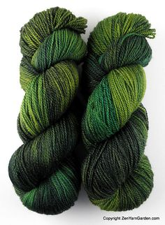 Zen Yarn Garden Serenity Silk+ from Stitches West - Merino / Cashmere / Silk.  Color Woodlands, making a shawlette.