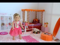 American Girl Doll Disney Frozen Anna's Bedroom (featuring Elsa) ~ HD WATCH IN HD! - YouTube